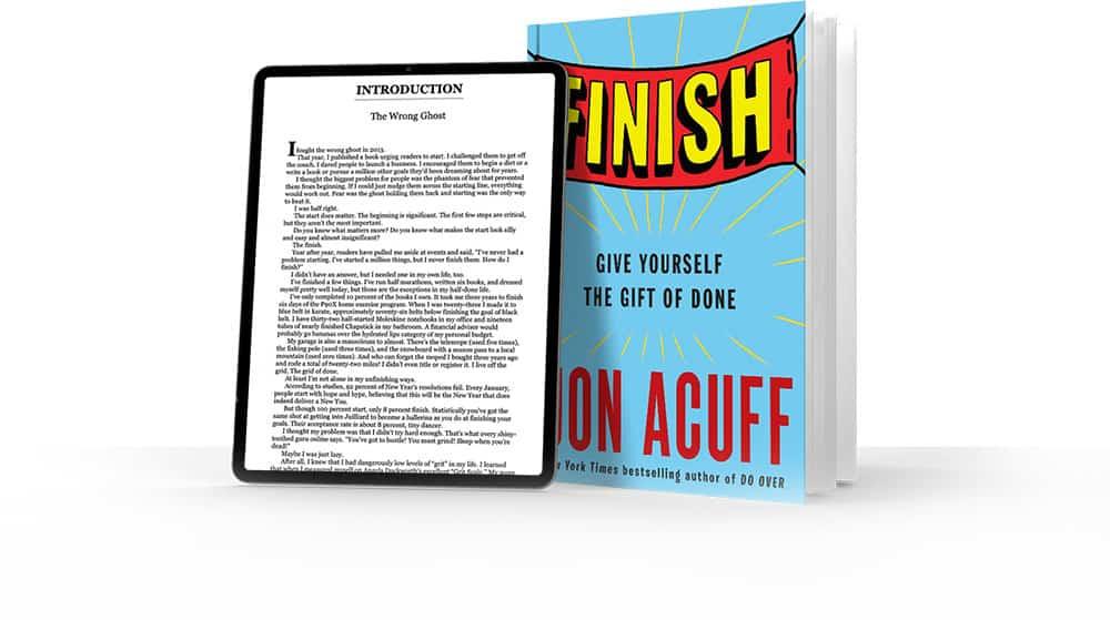 jon acuff finish kindle hardcover
