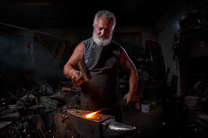 entrepreneurs old school blacksmith trade craftsman